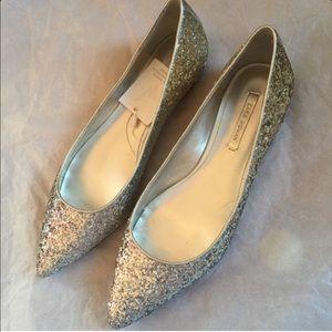 Glittery pointy toe Zara flats size 8 in women